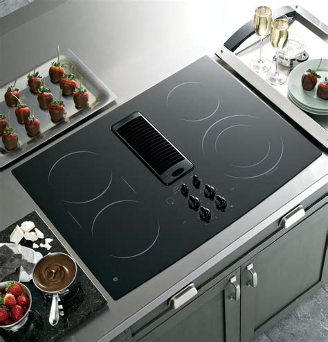 30 inch downdraft electric cooktop ge pp989dnbb 30 inch smoothtop electric downdraft cooktop