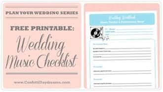 Wedding Music List Template Wedding Planning Archives Confetti Daydreams Wedding Blog