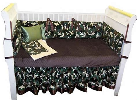Camouflage Baby Bedding by Custom Handmade 4 Camouflage Baby Bedding Set