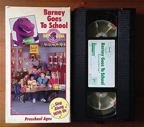 barney and the backyard gang goes to school rare barney and the backyard gang vhs tape barney goes to