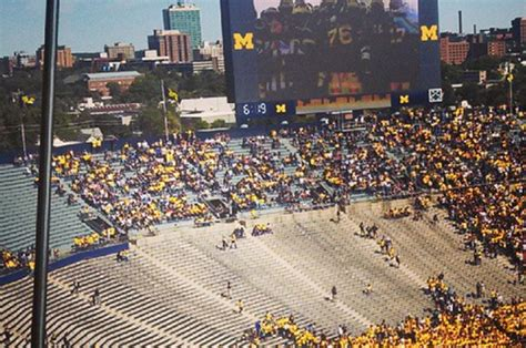 michigan student section michigan will not be setting any attendance records today