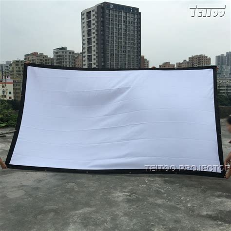 150 inch curtains good price home outdoor portable white hd projector screen