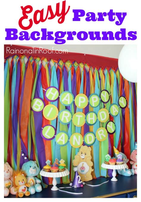 10 simple and cheap party decoration ideas easy party backgrounds for 10 or less