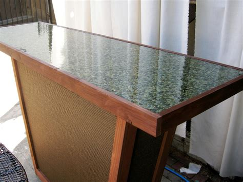 homemade bar tops build an outdoor bar with a pebble top hgtv