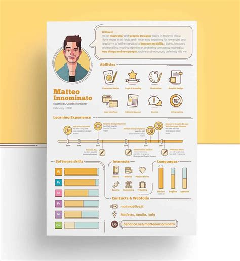 Infographic Resume Templates 13 Exles To Download Use Now Infographic Resume Template Free