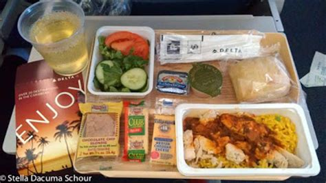 stella dacuma schour: airline food: delta airlines (ny to