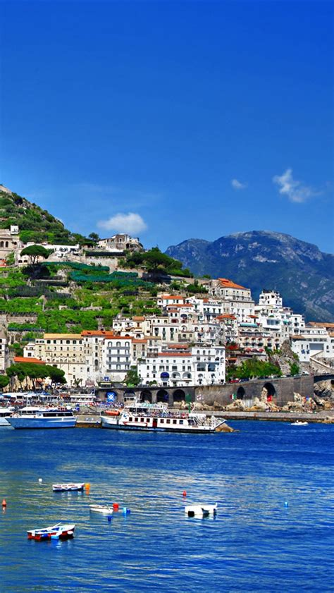 wallpaper for iphone 6 italy italy positano salerno amalfi boats sea houses