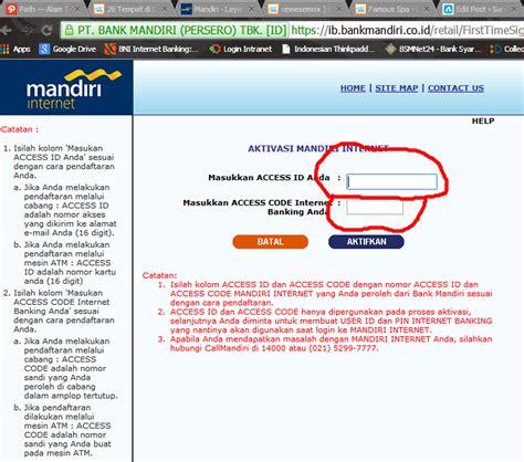 membuat kartu kredit bank mandiri online cara mendaftar internet banking bank mandiri melalui mesin