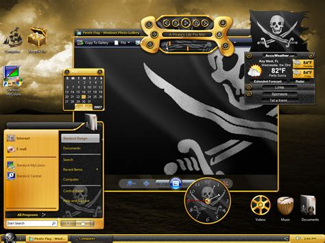 pc themes action pirate your desktop