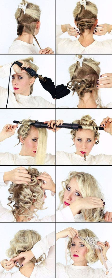 roaring 20s short hairstyle tutorial 17 best ideas about 1920s hair tutorial on pinterest