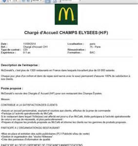 Lettre De Motivation Banque Chargé D Accueil Demande D Emploi Pour Mcdonald Employment Application