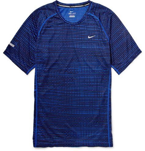 Tshirtt Shirtkaos Nike Run Blue nike printed dri fit running t shirt in blue for lyst