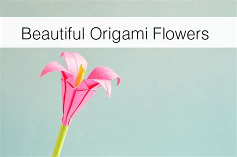 Beautiful Origami Flowers - beautiful origami flowers floranext florist websites