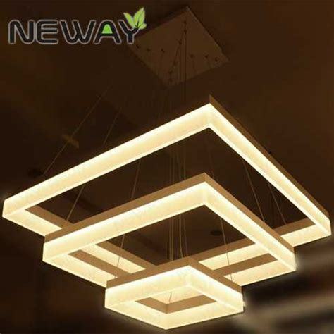 acrylic pendant light modern square led acrylic pendant light hotel