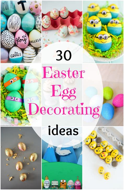 How To Decorate Boiled Eggs 30 easter egg decorating ideas