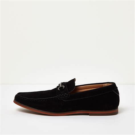 river island loafer river island black snaffle loafers in black for lyst