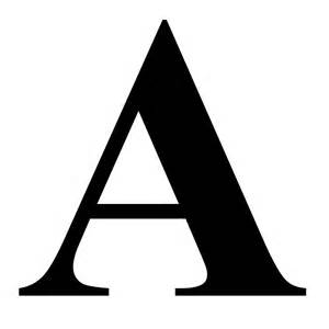 quot the letter a in black times new serif font typeface