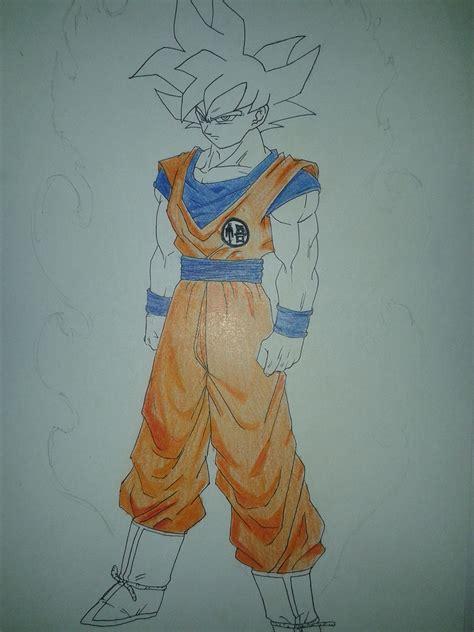 imagenes de goku jss dios goku ssj god mi dibujo paso a paso manga y anime taringa