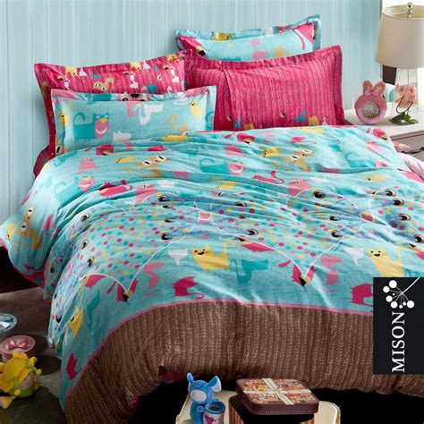 popular cat print bedding set children buy cheap cat print