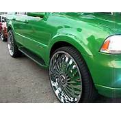 Lincoln Aviator On 28 Dub Swyrl And Ford Dually 26s