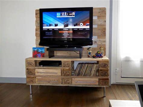 wood pallet tv stand  storage  pallets