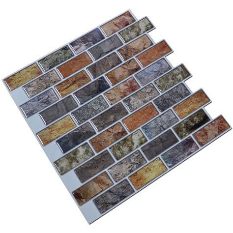 adhesive mosaic tile backsplash color subway 10 pieces