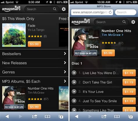 download mp3 from iphone safari amazon optimizes their mp3 store for mobile safari mactrast