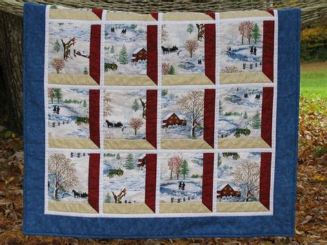 house windows online store winter scene attic window lap quilt tractor skating cardinal house pond sleigh ebay