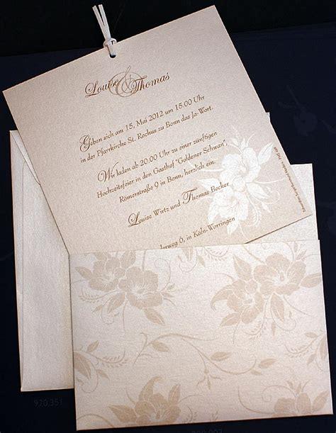 Einladungskarten Hochzeit Einsteckkarte by Einladungskarte Ex920003 Einsteckkarte Hibiskus Bl 252 Ten