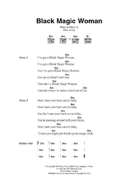 printable lyrics black magic sheet music digital files to print licensed peter green