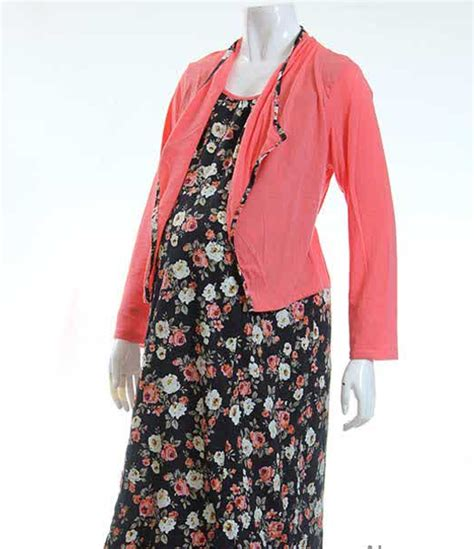 desain baju hamil modern gambar model baju hamil batik gamis muslim terbaru 2015