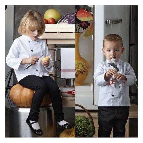veste de cuisine enfant veste de cuisine blanche pour enfant polycoton