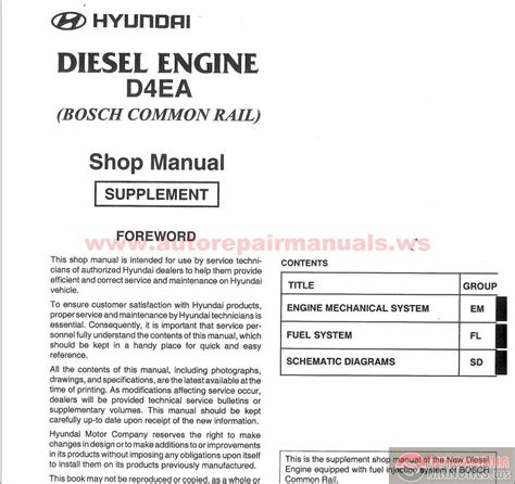 auto repair manual online 2005 hyundai tiburon engine control hyundai diesel engine d4ea shop manual auto repair manual forum heavy equipment forums