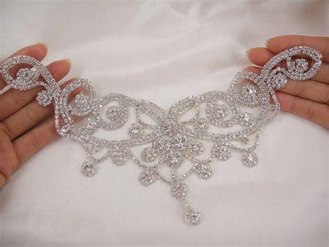 Diamante Applique by Diamante Applique Sweet Rhinestone Applique Bridal