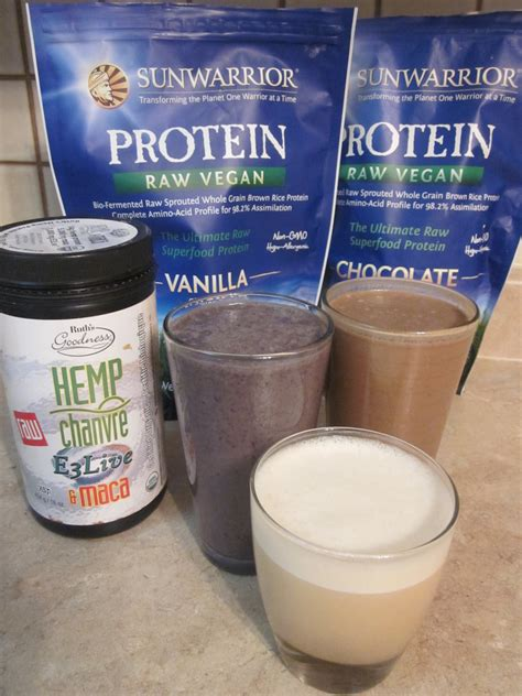 Protein Shakes Vegan Protein Shakes With Hemp Protein And Sunwarrior 4
