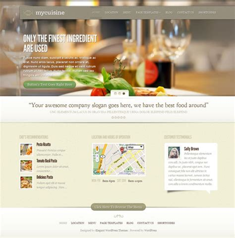 50 best restaurant wordpress themes 2017