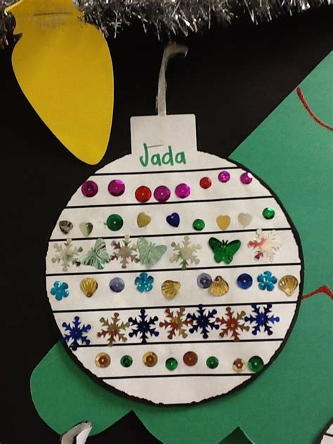christmas ornament project for pre k kindy activities for