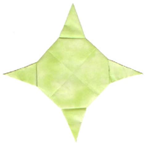 Four Pointed Origami - how to make a four pointed origami planet page 14