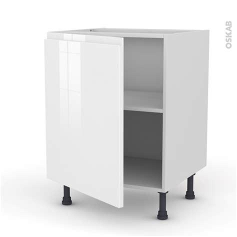 meuble de cuisine blanc brillant meuble de cuisine bas ipoma blanc brillant 1 porte l60 x