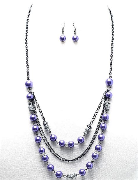 bead jewelry ideas arianna beaded necklace purple
