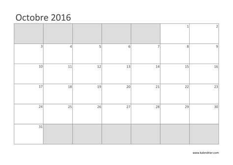 Calendrier Octobre 2000 Imprimer Calendrier 2016 Gratuitement Pdf Xls Et Jpg