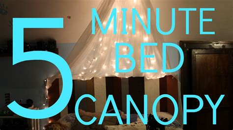 diy canopy bed with lights diy bed canopy fairy lights youtube
