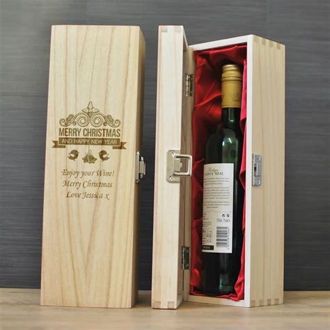 merry christmas personalised wine box