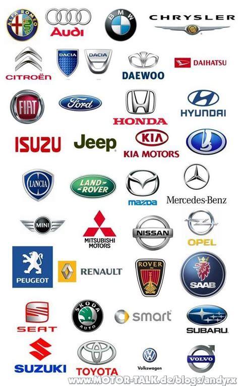 Motorrad Marken Nach Alphabet by Bau Geb 228 Uden Automarken Liste Mit Logo Bilder