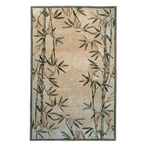 tropical accent rugs shop kas rugs floral trends ivory rectangular indoor