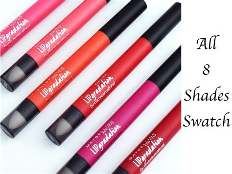 Lipstik Maybelline Warna Pink all maybelline colorblur lip gradation matte lipstick 8 shades review swatches