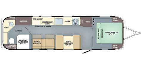 floor plans 2018 specs for 2018 airstream classic 33fb rvs rvusa