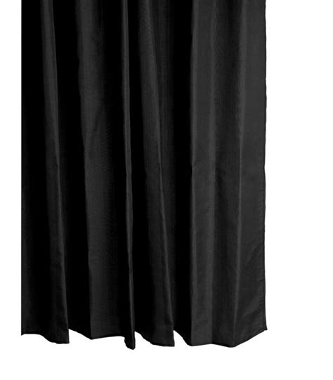Rideau Noir by Rideau De En Polyester Noir 180 200cm