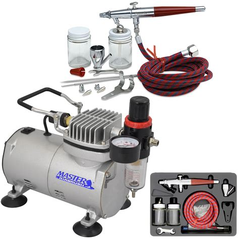 paasche vl set airbrush system compressor dual action