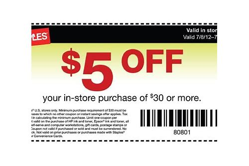 staples coupons off printers